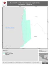 Mapa ilustrativo de Densidad de borde estimada para la vegetación de Los Petenes, Campeche