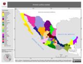 Mapa ilustrativo de División política estatal 1:4000000