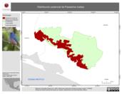 Mapa ilustrativo de Distribución potencial de Passerina rositae