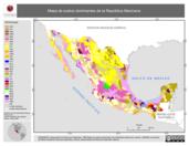 Mapa ilustrativo de Mapa de suelos dominantes de la República Mexicana