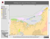 Mapa ilustrativo de Edafológia de la Laguna de Términos, Campeche