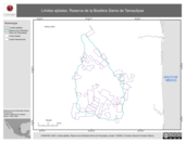 Mapa ilustrativo de Límites ejidales. Reserva de la Biosfera Sierra de Tamaulipas