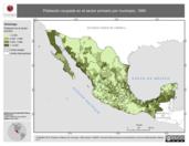 Mapa ilustrativo de Empleo en México por municipio, 1990. La proyección citada, es exclusiva para el diseño de esta imagen.