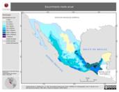 Mapa ilustrativo de Escurrimiento medio anual