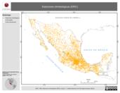 Mapa ilustrativo de Estaciones climatológicas (ERIC)