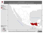 Mapa ilustrativo de Euphonia gouldi (eufonia olivácea) residencia permanente. Distribución potencial.
