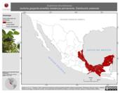 Mapa ilustrativo de Euphonia hirundinacea (eufonia garganta-amarilla) residencia permanente. Distribución potencial.