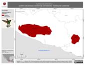 Mapa ilustrativo de Eupherusa poliocerca (colibrí cola blanca) residencia permanente. Distribución potencial.