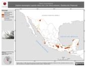 Mapa ilustrativo de Falco columbarius (halcón esmerejón) usando sitios con y sin clima extremo. Distribución Potencial