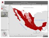 Mapa ilustrativo de Falco sparverius (cernícalo americano) invierno. Distribución potencial.