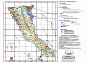 Mapa ilustrativo de Mapa base del estado de Baja California
