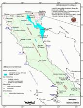 Mapa ilustrativo de Mapa base del estado de Baja California. En formato Geotiff