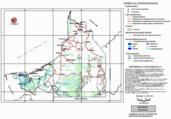 Mapa ilustrativo de Mapa base del estado de Campeche