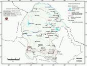Mapa ilustrativo de Mapa base del estado de Coahuila de Zaragoza. En formato Geotiff