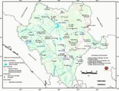Mapa ilustrativo de Mapa base del estado de Durango. En formato Geotiff