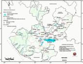 Mapa ilustrativo de Mapa base del estado de Jalisco. En formato Geotiff