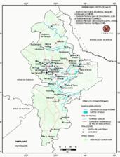 Mapa ilustrativo de Mapa base del estado de Nuevo León. En formato Geotiff