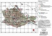 Mapa ilustrativo de Mapa base del estado de Oaxaca
