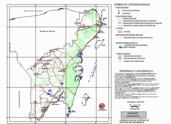 Mapa ilustrativo de Mapa base del estado de Quintana Roo'