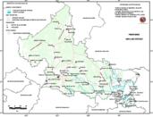 Mapa ilustrativo de Mapa base del estado de San Luis Potosí. En formato Geotiff