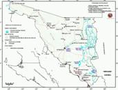 Mapa ilustrativo de Mapa base del estado de Sonora. En formato Geotiff