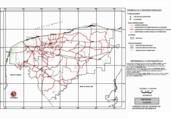 Mapa ilustrativo de Mapa base del estado de Yucatán