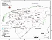 Mapa ilustrativo de Mapa base del estado de Yucatán. En formato Geotiff