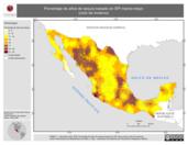 Mapa ilustrativo de Porcentaje de años de sequía basado en SPI marzo-mayo (ciclo de invierno)