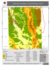 Mapa ilustrativo de Clasificación geológica. Cuenca de Burgos, zona II