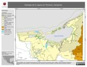 Mapa ilustrativo de Geológia de la Laguna de Términos, Campeche