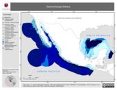 Mapa ilustrativo de Geomorfología Marina