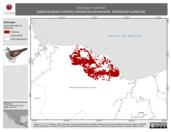 Mapa ilustrativo de Geotrygon carrikeri (paloma-perdiz tuxtleña) residencia permanente. Distribución potencial.