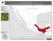 Mapa ilustrativo de Henicorhina leucosticta (chivirín pecho blanco) residencia permanente. Distribución potencial.