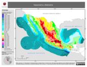 Mapa ilustrativo de Hipsometría y Batimetría