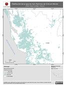 Mapa ilustrativo de Harinoso de Ocho en México. Distribución de la raza de maíz. La proyección citada, es exclusiva para el diseño de esta imagen.