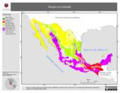 Mapa ilustrativo de Rangos de humedad