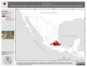 Mapa ilustrativo de Hyla plicata (Rana de árbol plegada o surcada). Área de distribución potencial. La proyección citada, es exclusiva para el diseño de esta imagen.