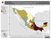 Mapa ilustrativo de Población indígena por entidad federativa de 12 años y más, según condición de actividad económica, 2002