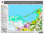 Mapa ilustrativo de Uso del suelo y vegetación de la Laguna de Términos, Campeche