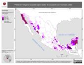Mapa ilustrativo de Población indígena ocupada según sector de ocupación por municipio, 2002