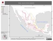 Mapa ilustrativo de Enero: mes de mínima insolación (en isolíneas)