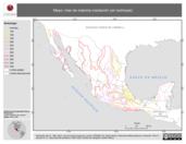 Mapa ilustrativo de Mayo: mes de máxima insolación (en isolíneas)