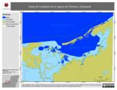 Mapa ilustrativo de Áreas de inundación de la Laguna de Términos, Campeche