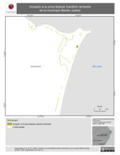 Mapa ilustrativo de Invasión a la zona federal marítimo terrestre en el municipio Benito Juárez