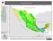 Mapa ilustrativo de Precipitación total anual