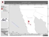 Mapa ilustrativo de Lampropeltis zonata (Culebra real californiana). Área de distribución potencial. La proyección citada, es exclusiva para el diseño de esta imagen.