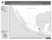Mapa ilustrativo de Laniocera rufescens (plañidera jaspeada) residencia permanente. Distribución potencial.