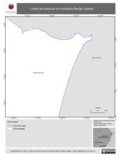 Mapa ilustrativo de Línea de costa en el municipio Benito Juárez