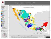 Mapa ilustrativo de Lenguas indígenas a nivel municipal, 2002