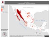 Mapa ilustrativo de Lepus alleni (Liebre antílope). Distribución potencial.
